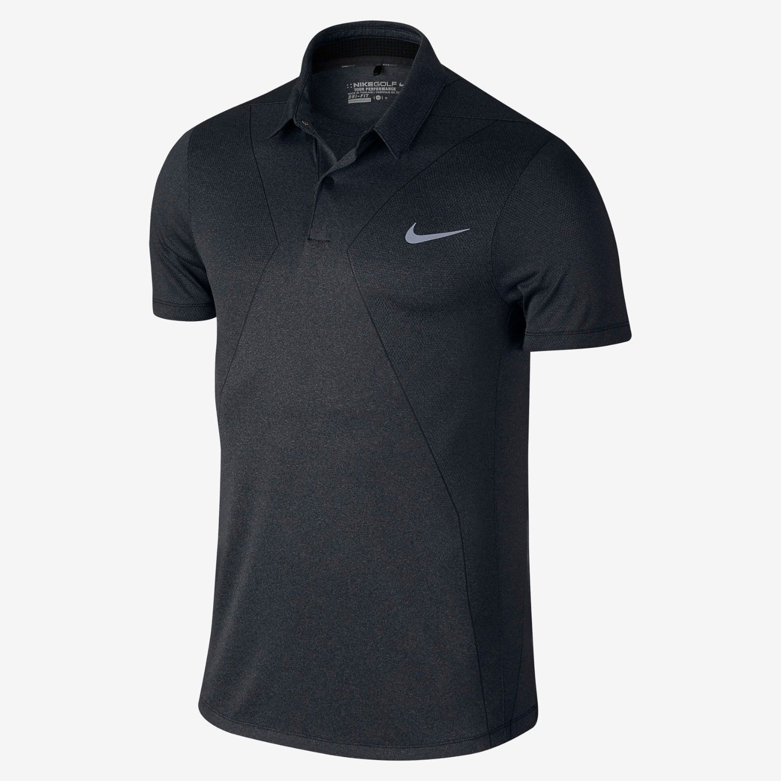 NIKE MM FLY SWING KNIT SLIM FIT GOLF POLO BLACK 725511-010 MENS SIZE LARGE