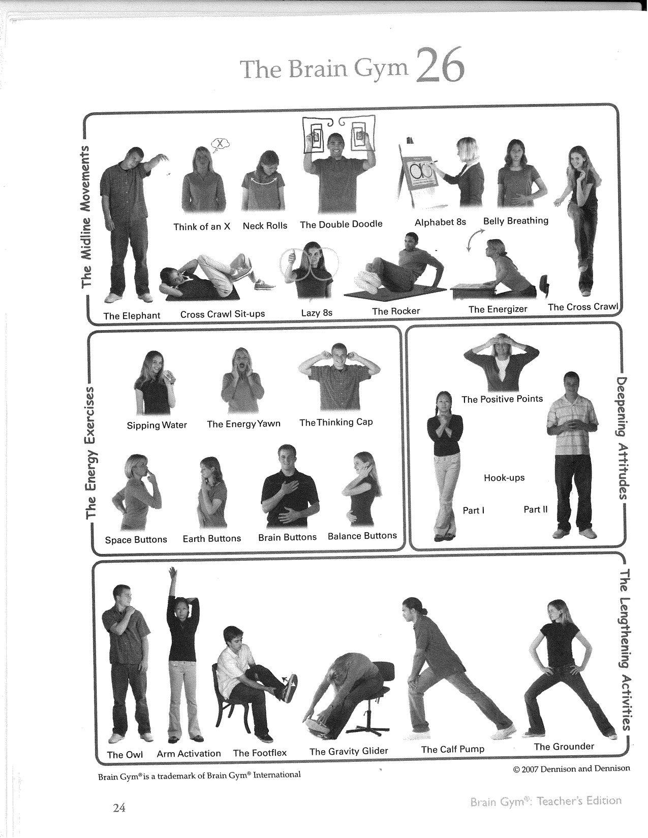 Visual Worksheet Exercise Fitness
