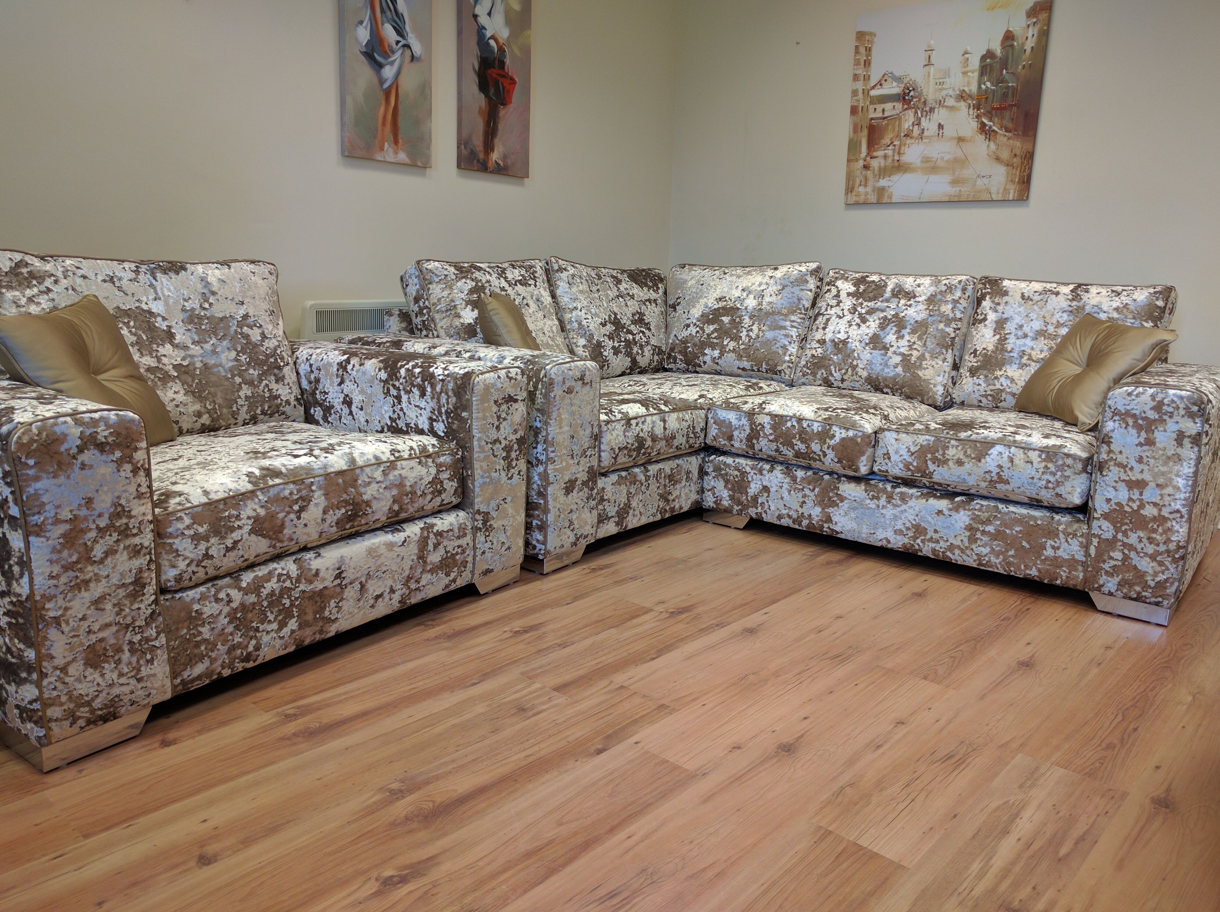 Our Luxury Crushed Velvet Sofa Collection Looks Beautiful