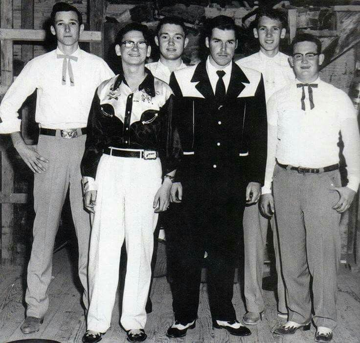 The Wink Westerners, featuring Roy Orbison (western shirt, white pants),  filled in as Slim Whitman's backing band for a run of dates around the  southwest in the…