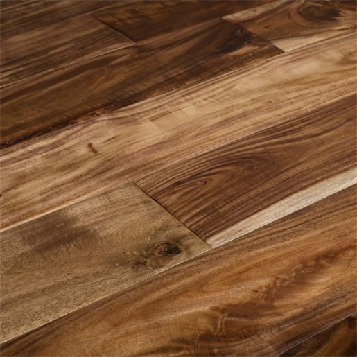 Acacia Natural wide plank smooth hardwood. Floor choice