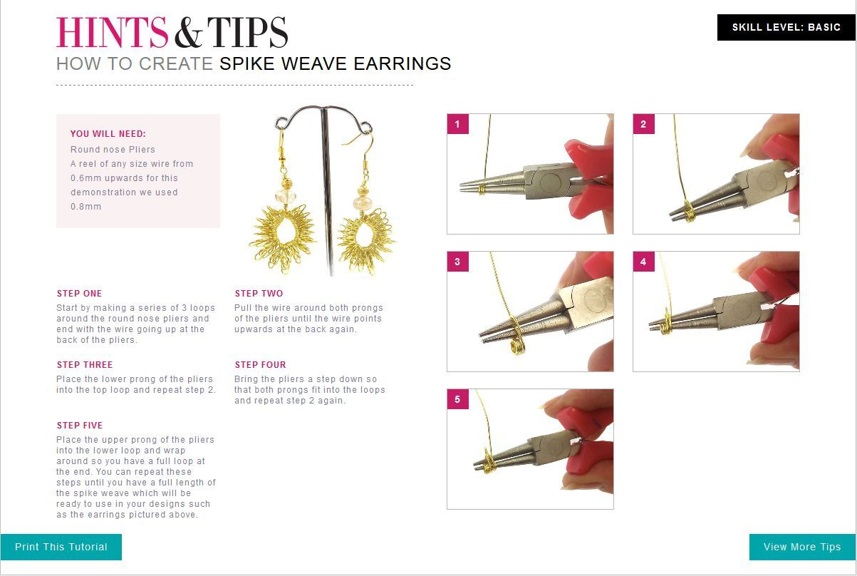 Follow these easy 5 step jewellery making tutorial on how to create ...