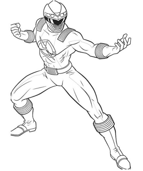 Power Rangers Ready To Fight Monsters Coloring Page Free