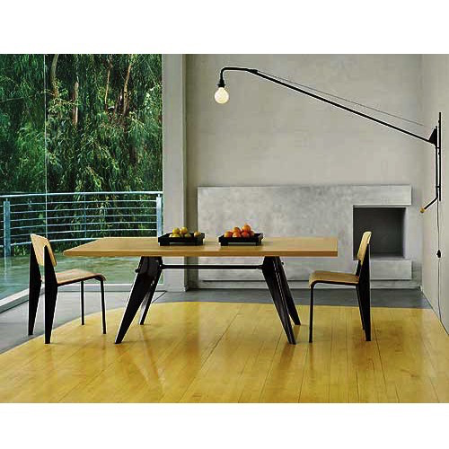 Em Table Wood Prouve Dining Table Dining Table Lighting Modern Interior Decor