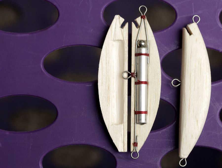 Homemade fishing lure blog how to make a balsa fishing for Fishing lure making