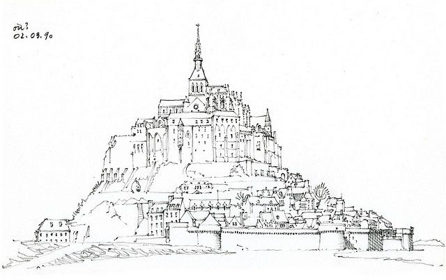 50 Mont St Michel Drawings Art Art Architecture