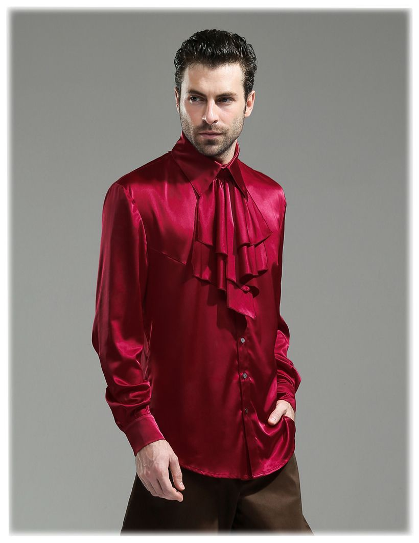 Male Silk Pirate Shirt Fetish