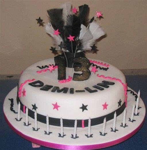 13th birthday party cake ideas birthday cakes Pinterest 13th