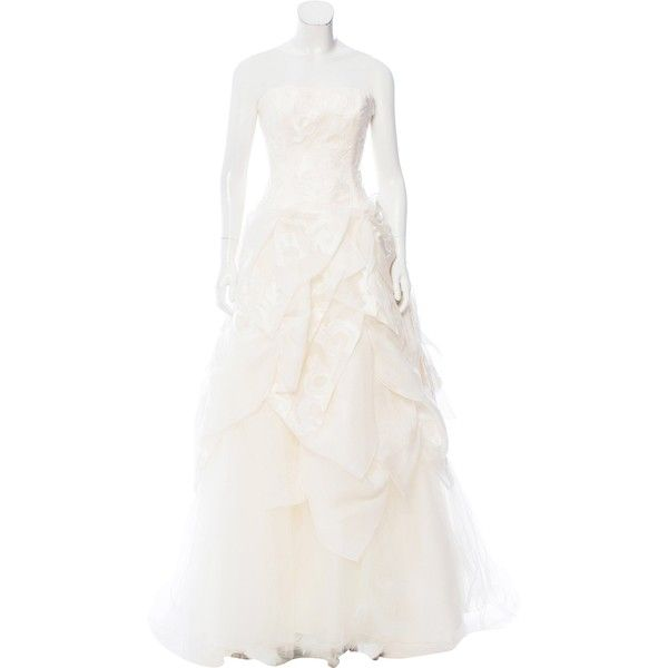 Pre-owned Carolina Herrera Louise Wedding Gown ($2,395) ❤ liked on ...