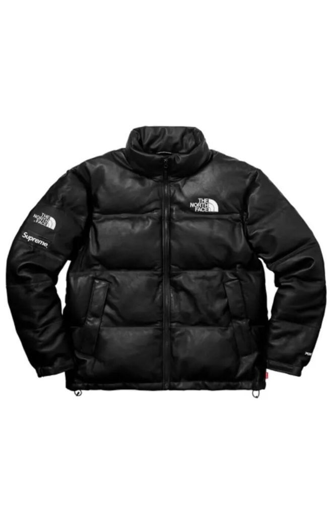 Supreme X The North Face Leather Nuptse Jacket Black Size Large Fw17 In Hand The North Face Jackets Mens Outfits