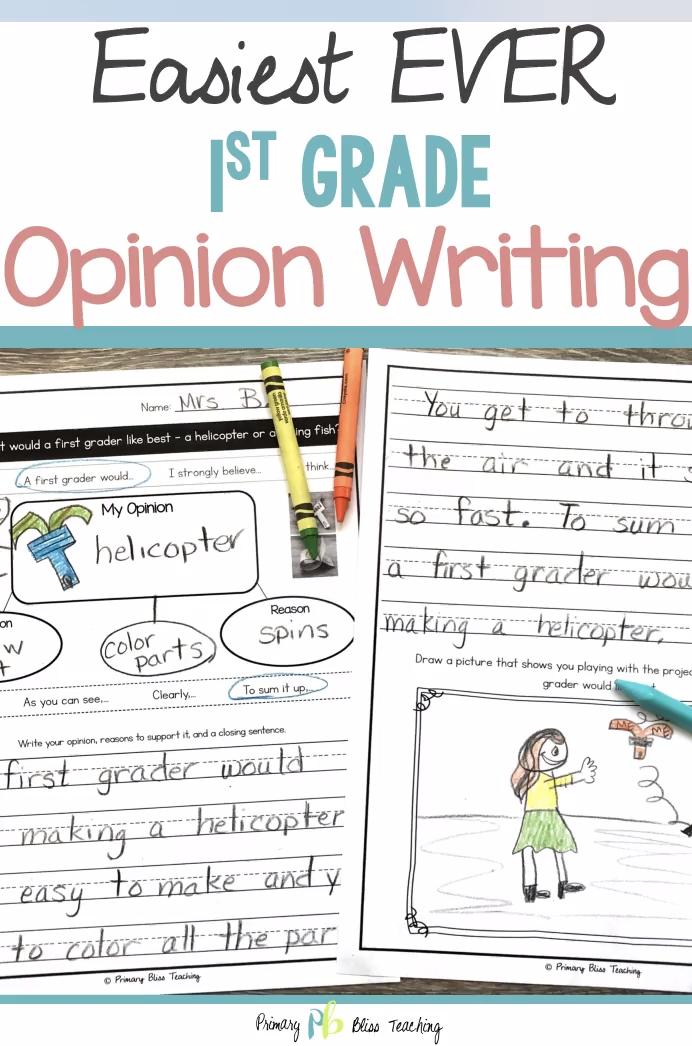 First Grade Opinion Writing Unit No Prep Video Opinion Writing First Grade Writing Writing Units