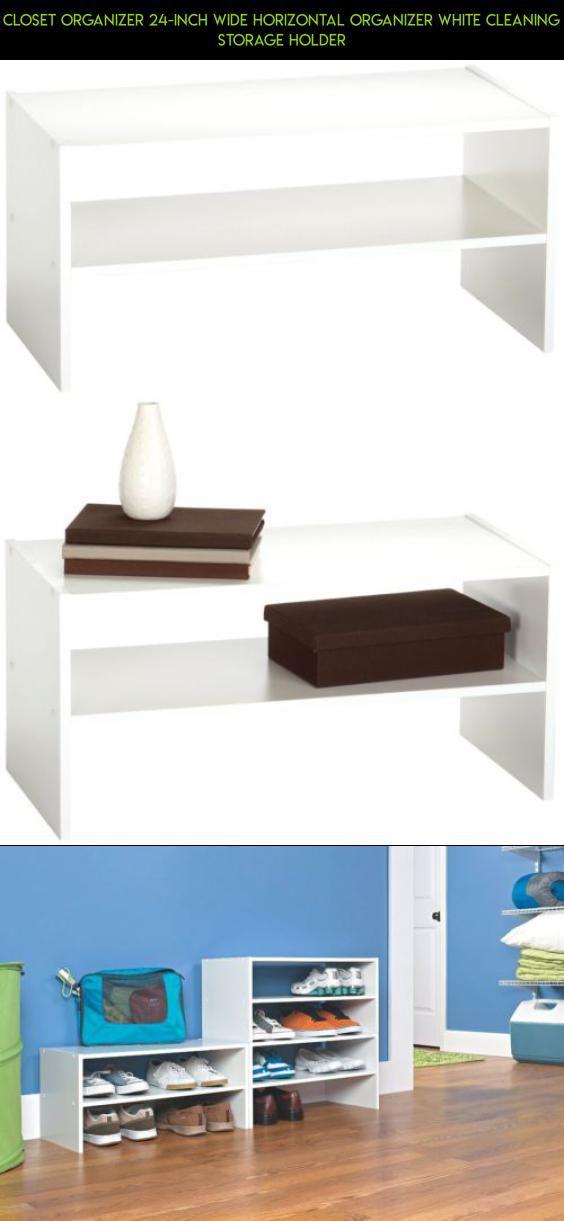 Closet Organizer 24 Inch Wide Horizontal Organizer White Cleaning Storage  Holder #gadgets #24