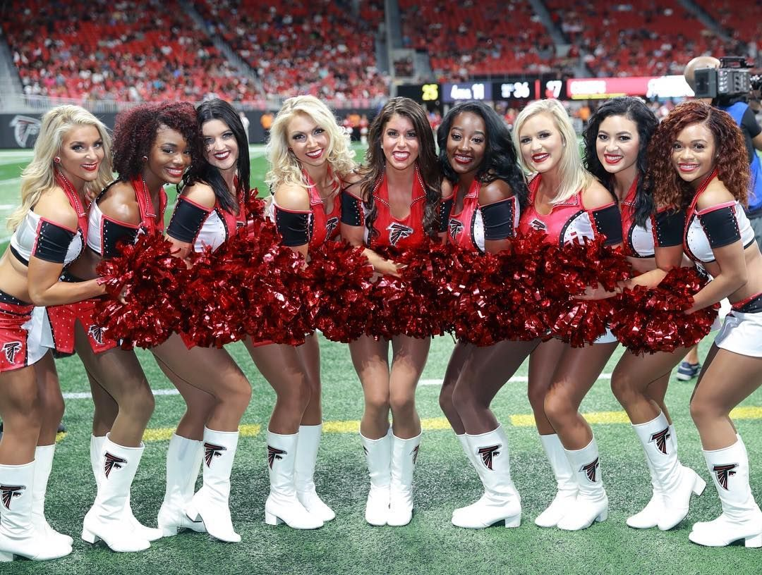 Happy Teammatetuesday From Alex S A Listers Can T Wait To Share The Field This Season With These Talented Girls Nfl Cheerleaders Cheerleading Atlanta Falcons