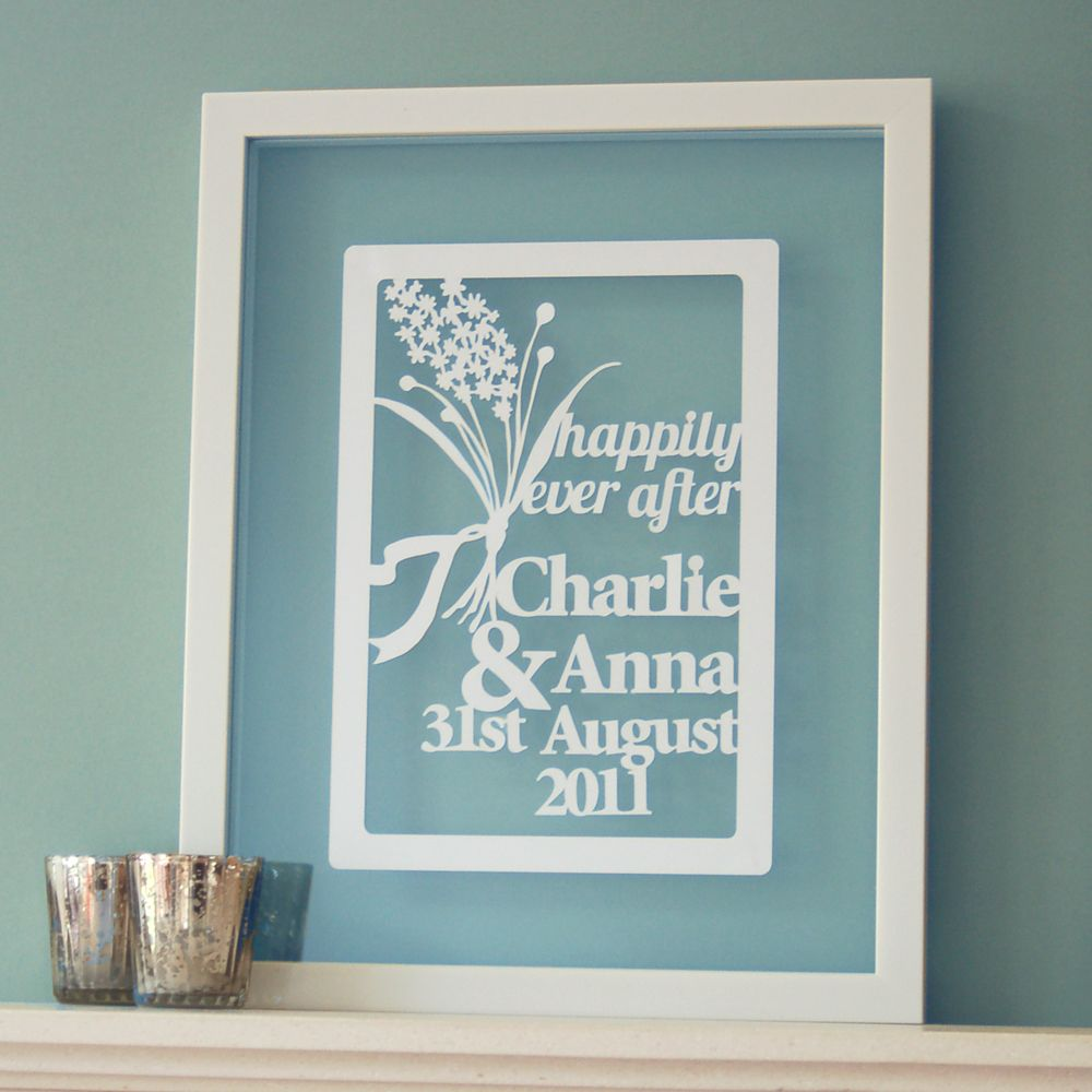 Personalized Wedding Photo Frames Uk : Personalised Wedding Papercut #wedding #weddinggift # ...