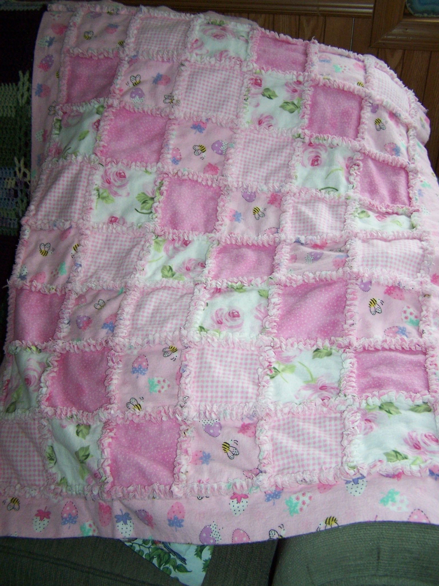 Baby Flannel Rag Quilt Flannel Rag Quilts Quilts Baby