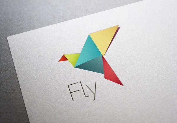 Colorful Origami Bird | Logos
