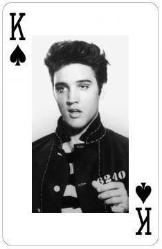 Elvis playing card..King of Spades