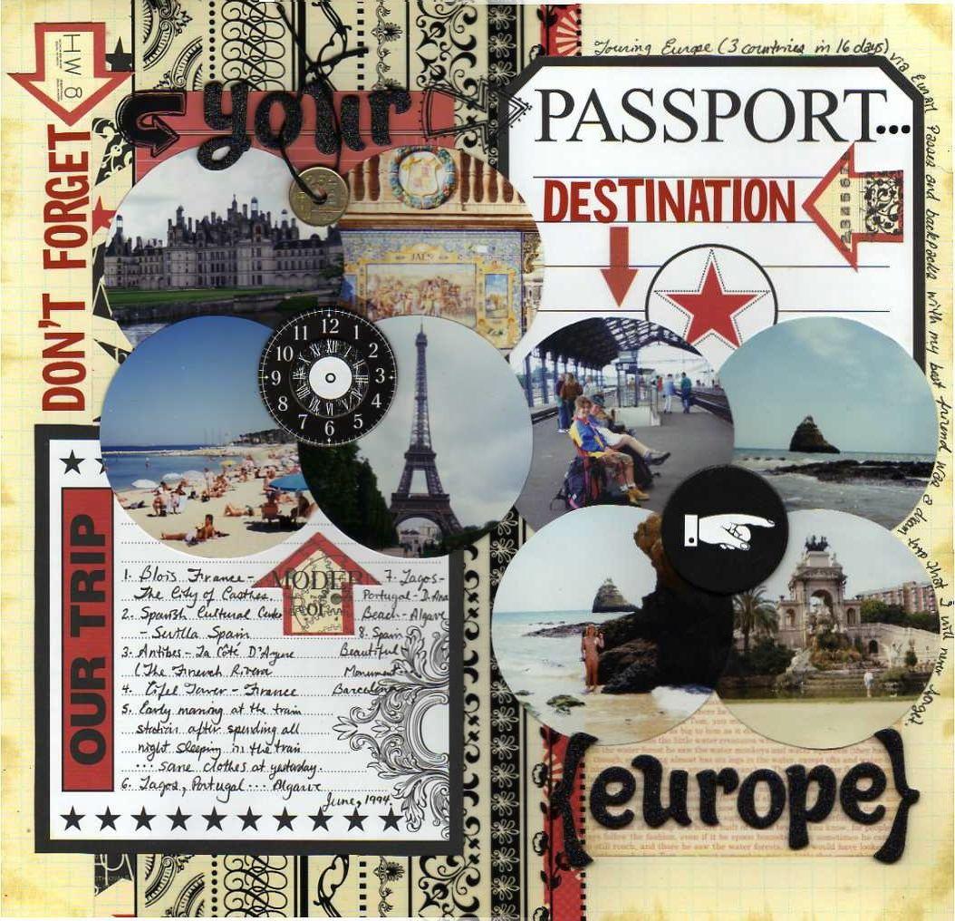 Europe scrapbook ideas - Destination Europe Scrapbook Com