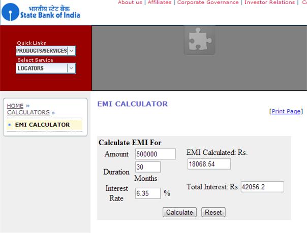 Sbi Home Loan Calculator  Loan Calculators Usda Loan Http
