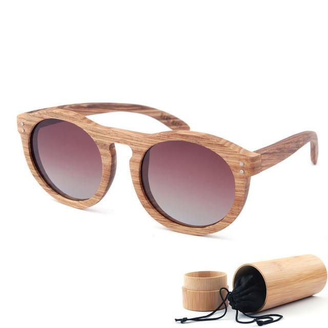1d1b8c6de63 Cat-Eye Wooden Sunglasses