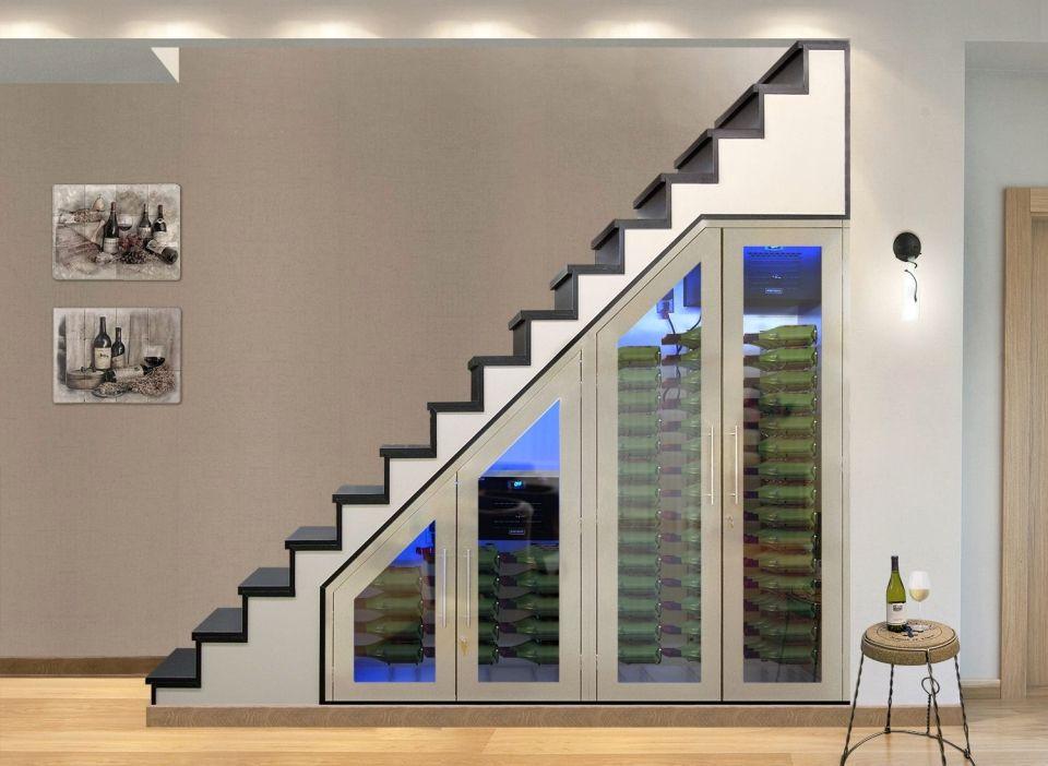 Best Vinotemp Brushed Stainless Modular Under Stairs Wine 400 x 300