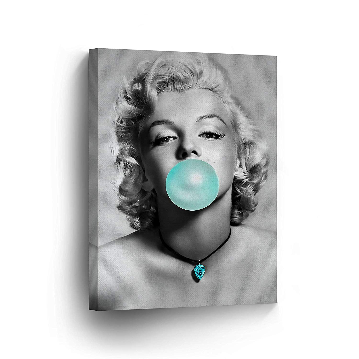 Marilyn monroe bubble gum chewing gum black and white