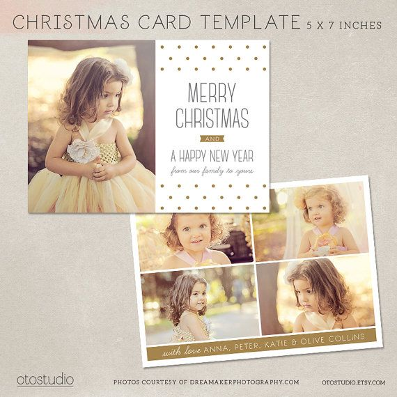 Digital Photoshop Christmas Card Template For Photographers Etsy Christmas Card Template Photoshop Christmas Card Template Digital Christmas Cards