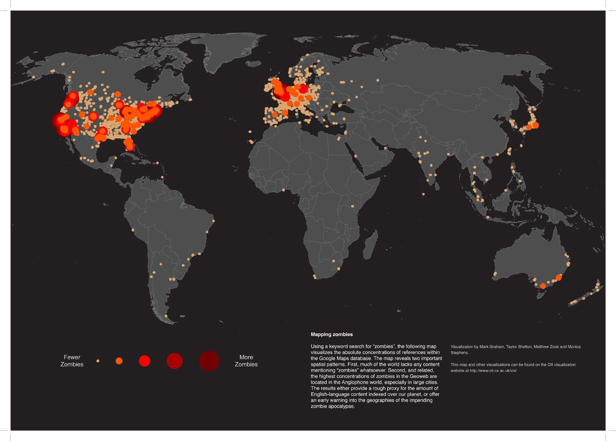 The Zombie map of the world   Silly & Sundry   Zombie