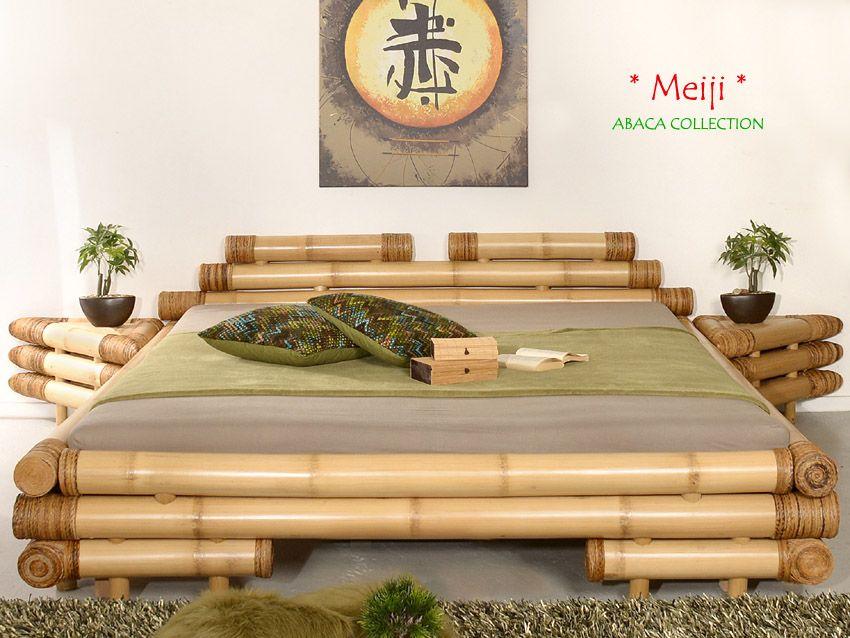 Schlafzimmer Bambus ~ Meiji designer bambusbett 200x220 abaca collection schlafzimmer