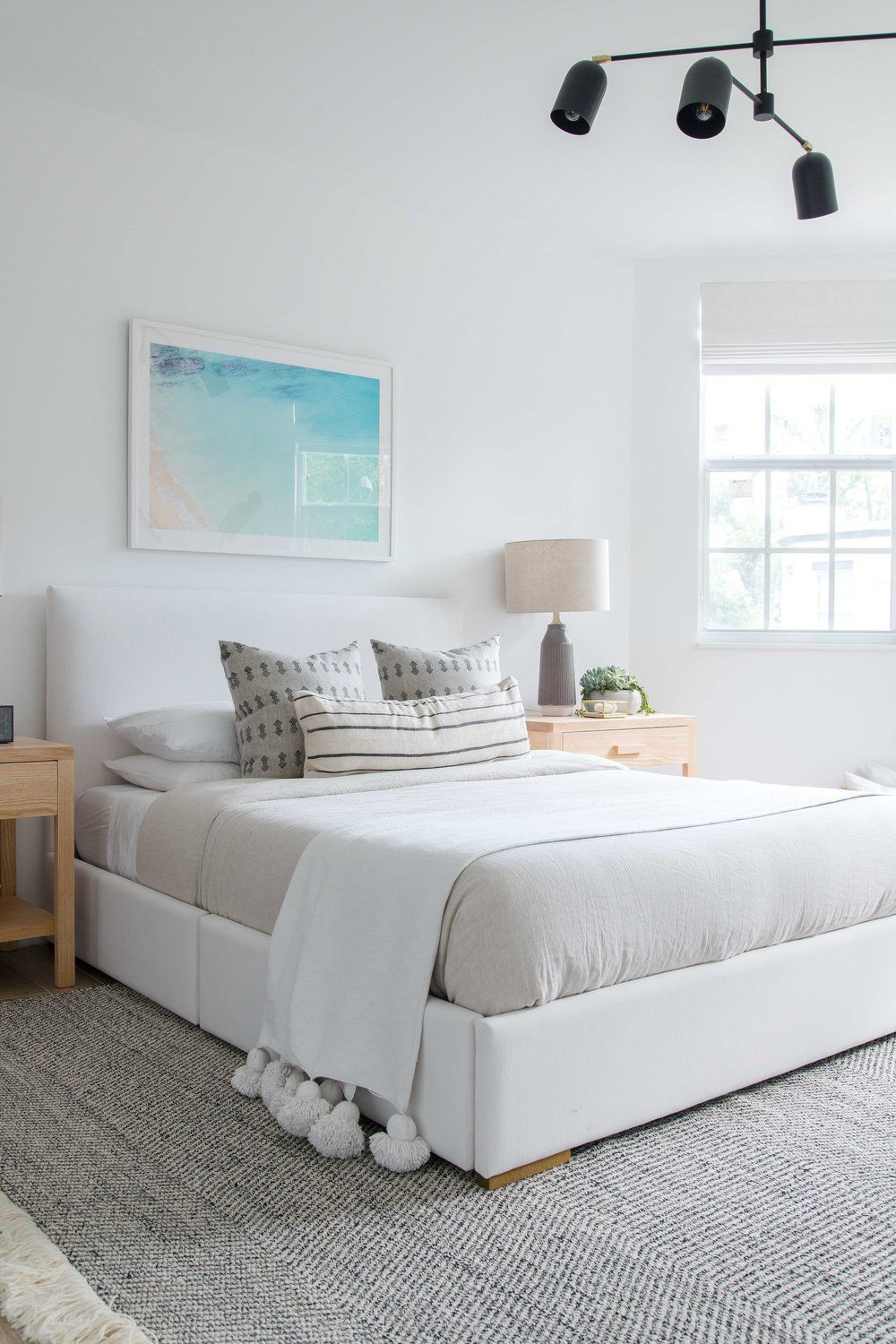 White Upholstered Bed The Habitat Collective Interior Design