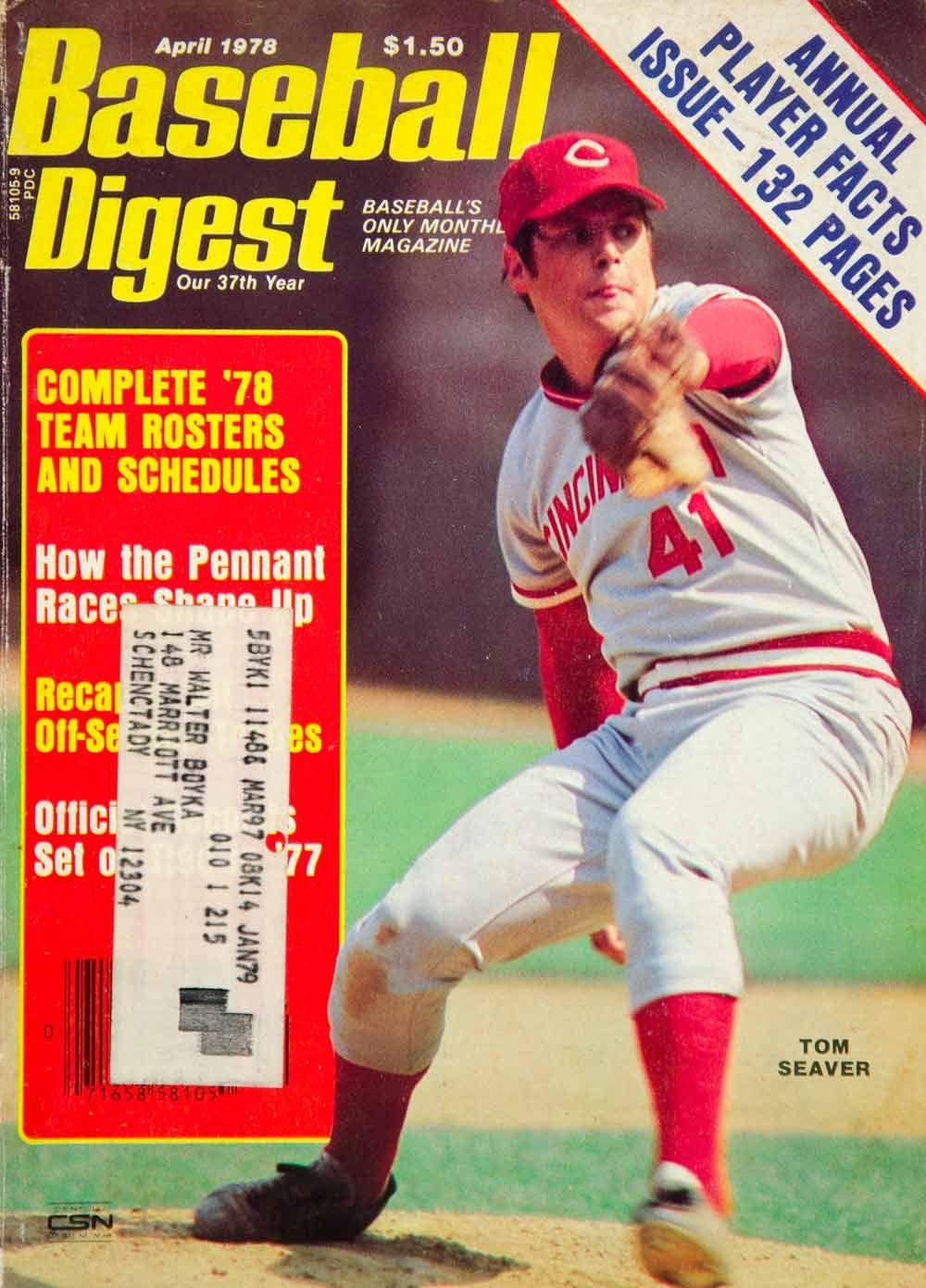 1978 Cover Baseball Digest Tom Seaver Cincinnati Reds