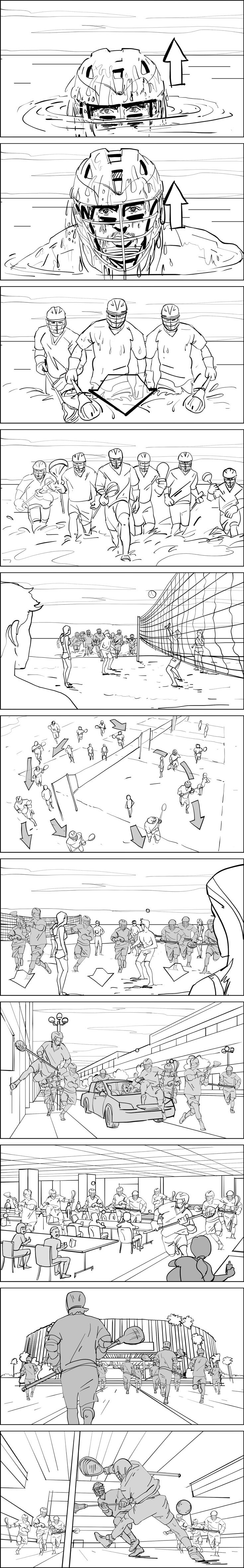 Lacrosse Action Storyboards  Storyboards By Storyboard Artist