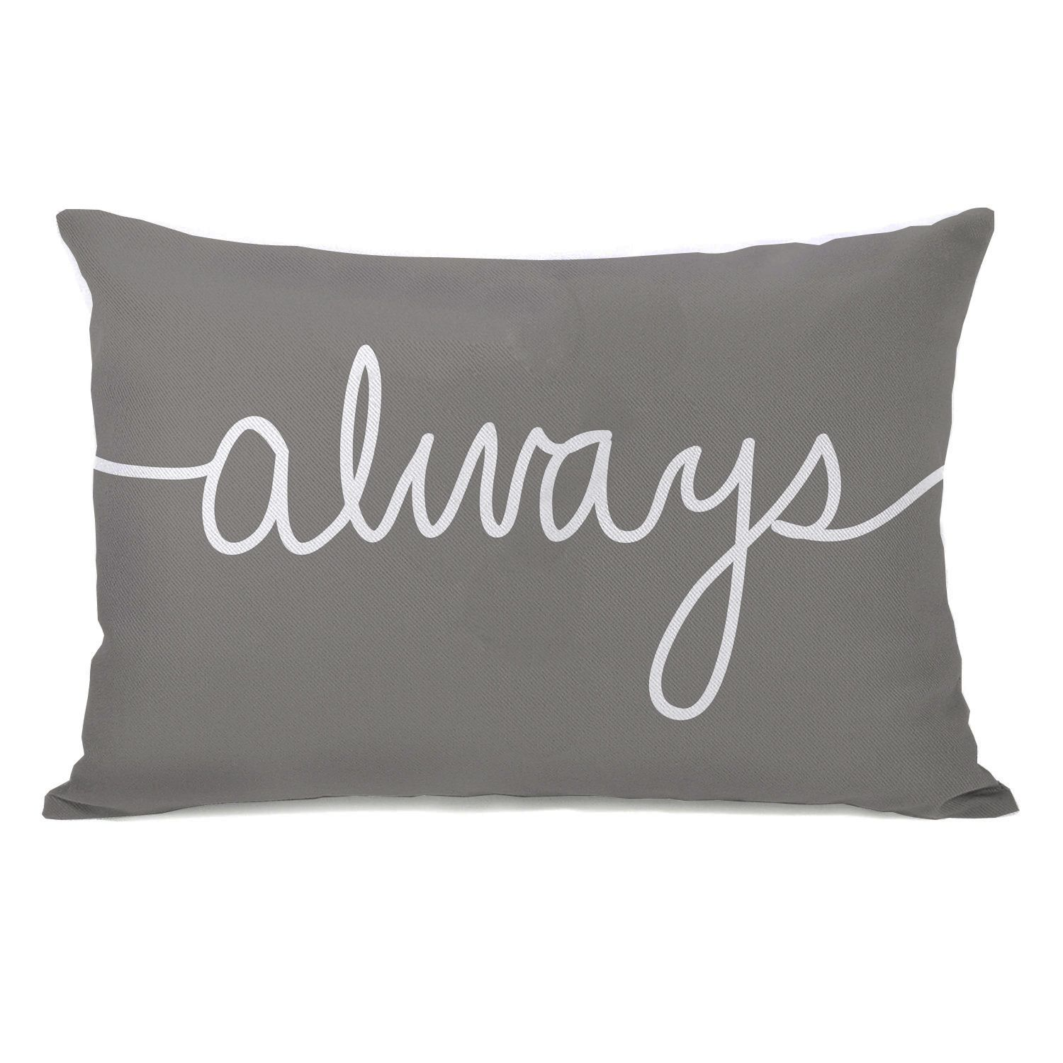 Always Mix and Match Grey Throw Pillow Throw pillows Bright and