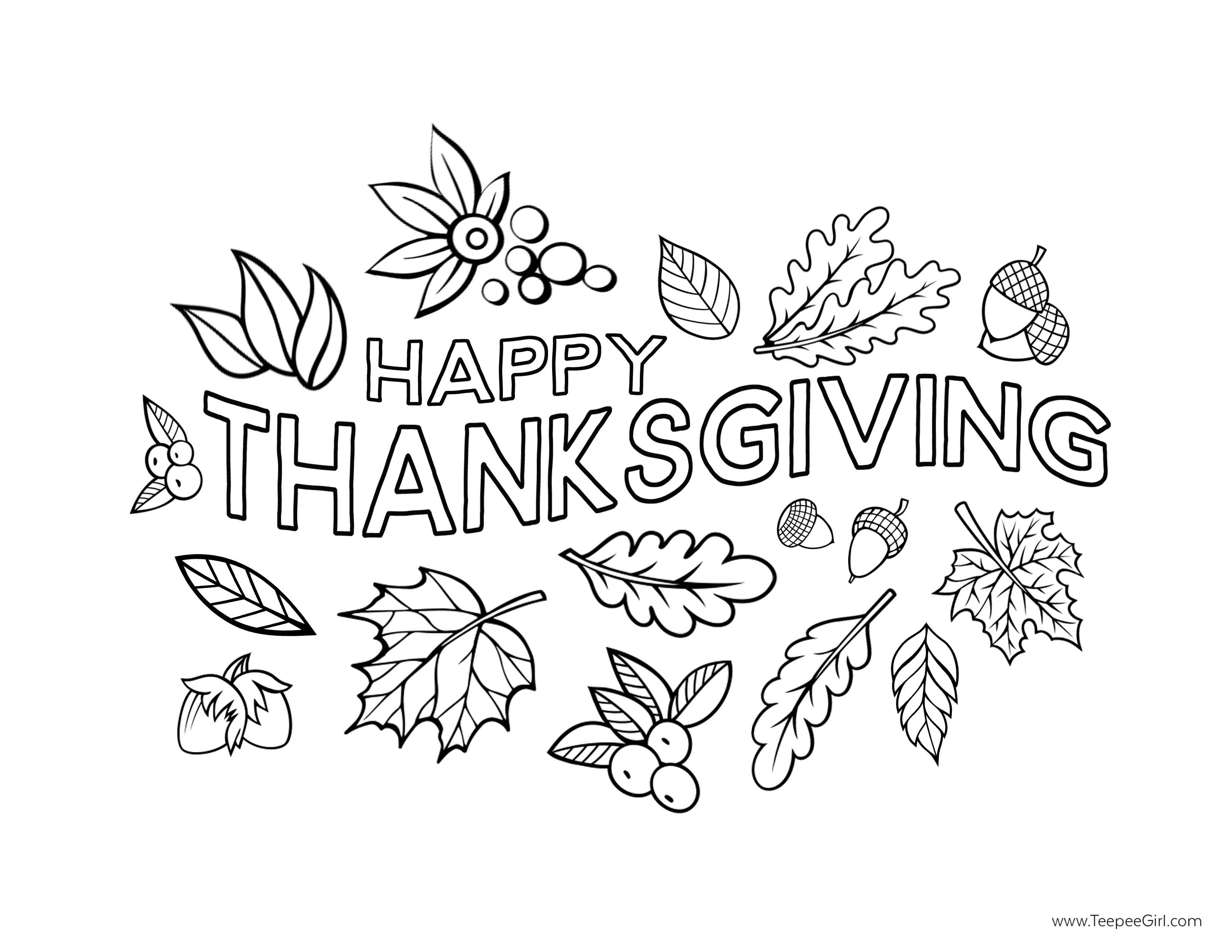 Happy-Thanksgiving-Coloring-Page-1.jpg (3300×2550) | Coloring Pages ...
