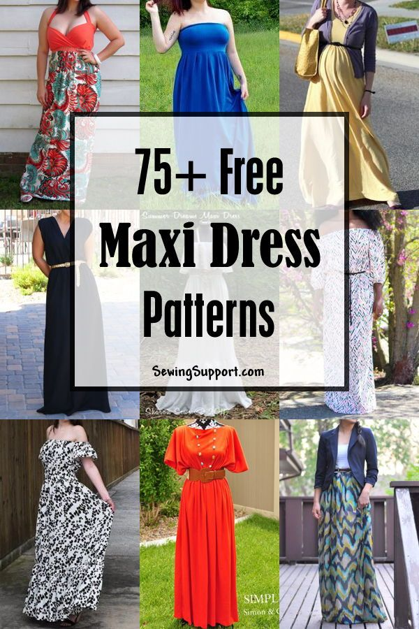 17 DIY Clothes Projects maxi dresses