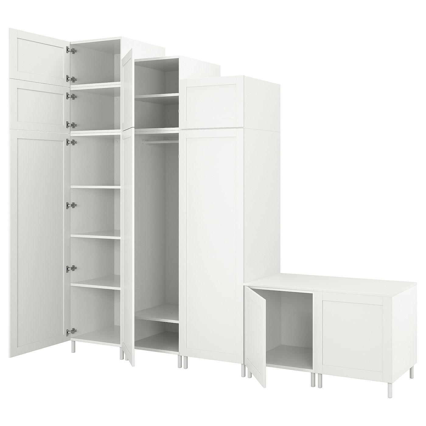 PLATSA Armario 9 puertas, blanco Sannidal, blanco IKEA