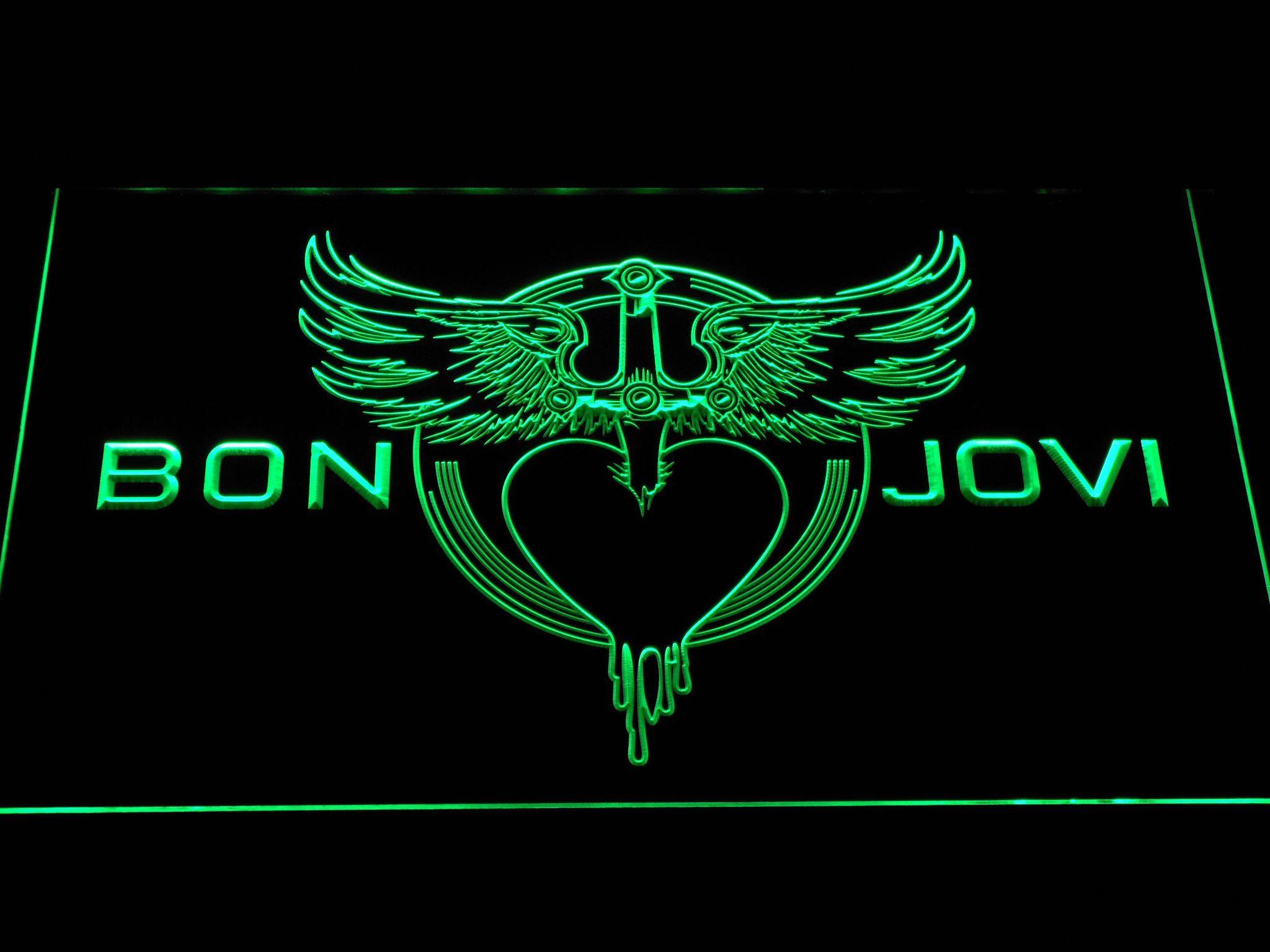 Bon Jovi Heart and Dagger Logo LED Neon Sign