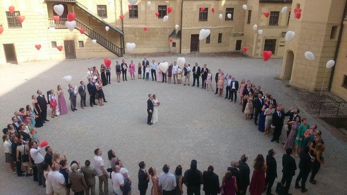 Hochzeit auf der Burg Trausnitz in Landshut