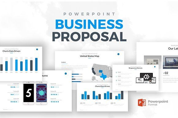 business proposal powerpointrocketo graphics on, Presentation templates
