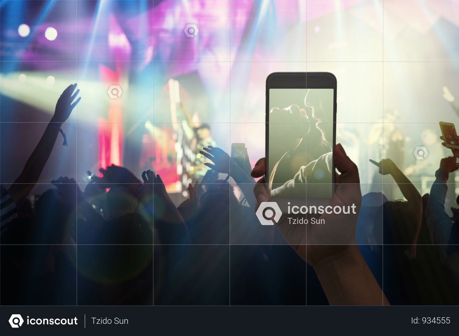 Premium Female Taking Live Video During Live Music Concert Photo Download In Png Jpg Format Music Concert Concert Live Music