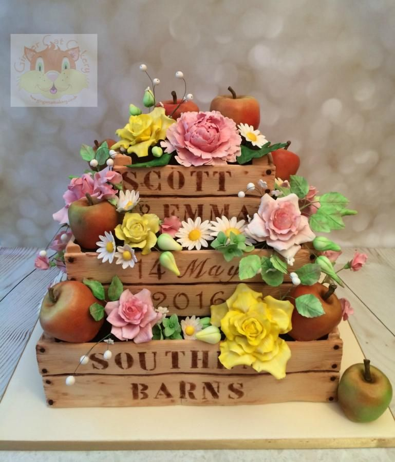 Apple crate cake by Elaine Ginger Cat Cakery Cakes Cake