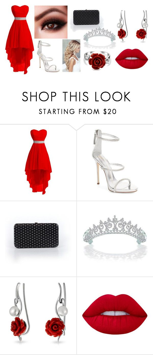 """Prom Queen"" by tctops ❤ liked on Polyvore featuring Giuseppe Zanotti, Merona, Bling Jewelry, Lime Crime and gorgeous"