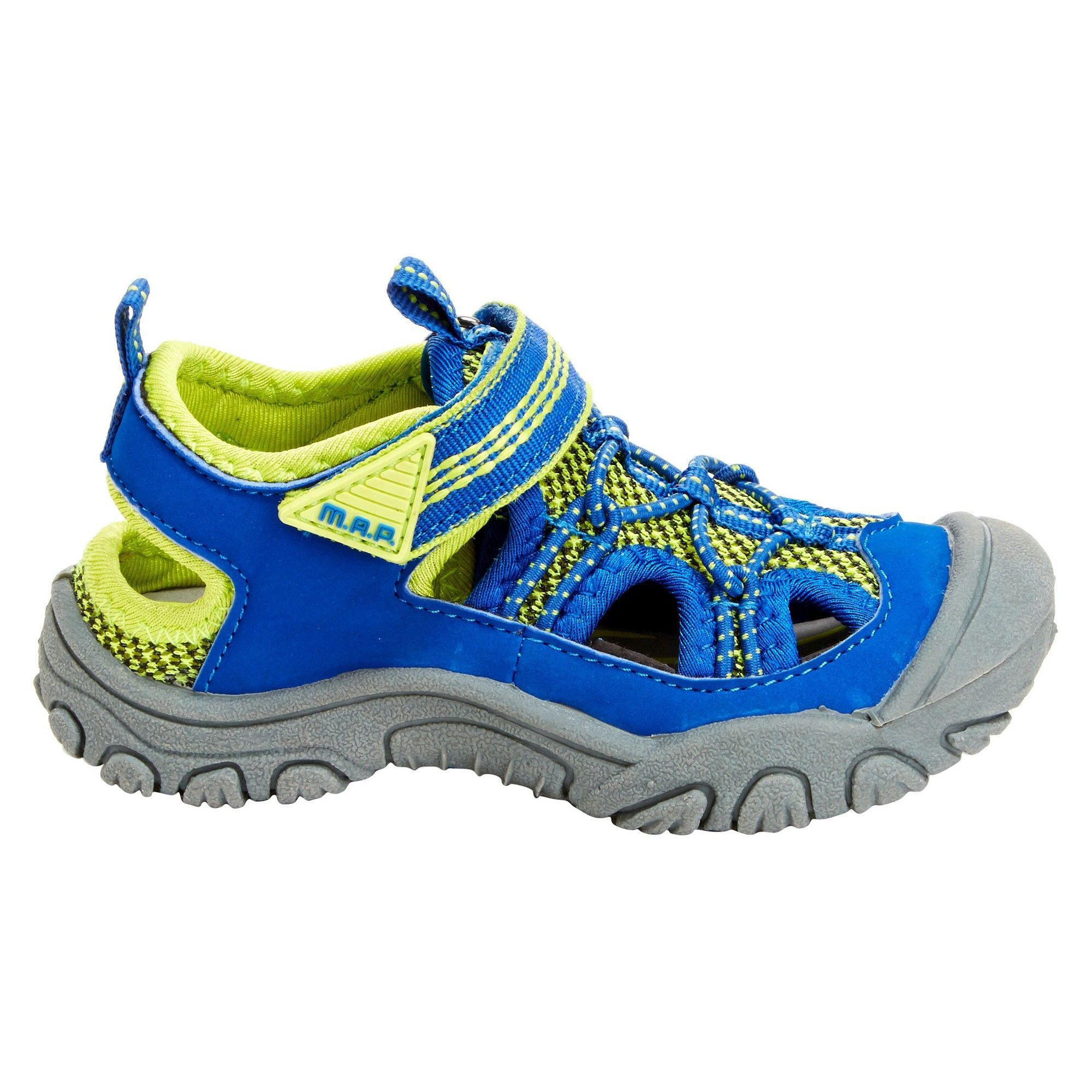 M A P Toddler Boys Emmon Fisherman Sandals Blue Neon 10