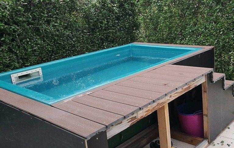 Diy Pool Fur Den Garten Erfrischung In Nur Wenigen Tagen Pool Im Garten Garten Pool