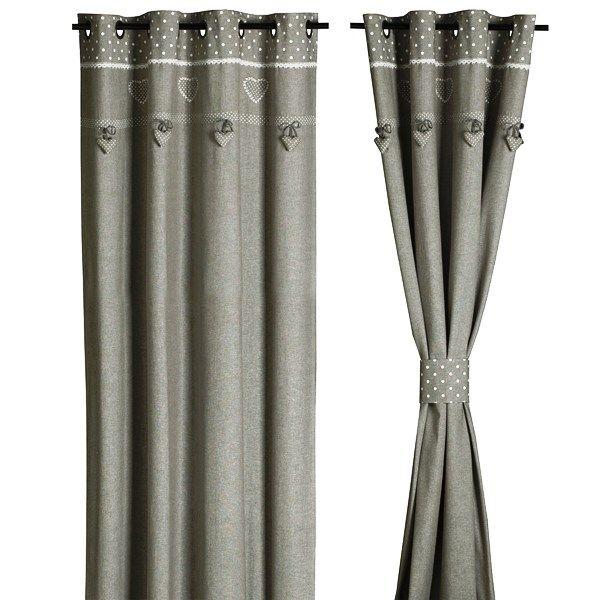 Rideau brod collection perle d coration chic et romantique pour ce double rideau brises bise for Double rideau rose