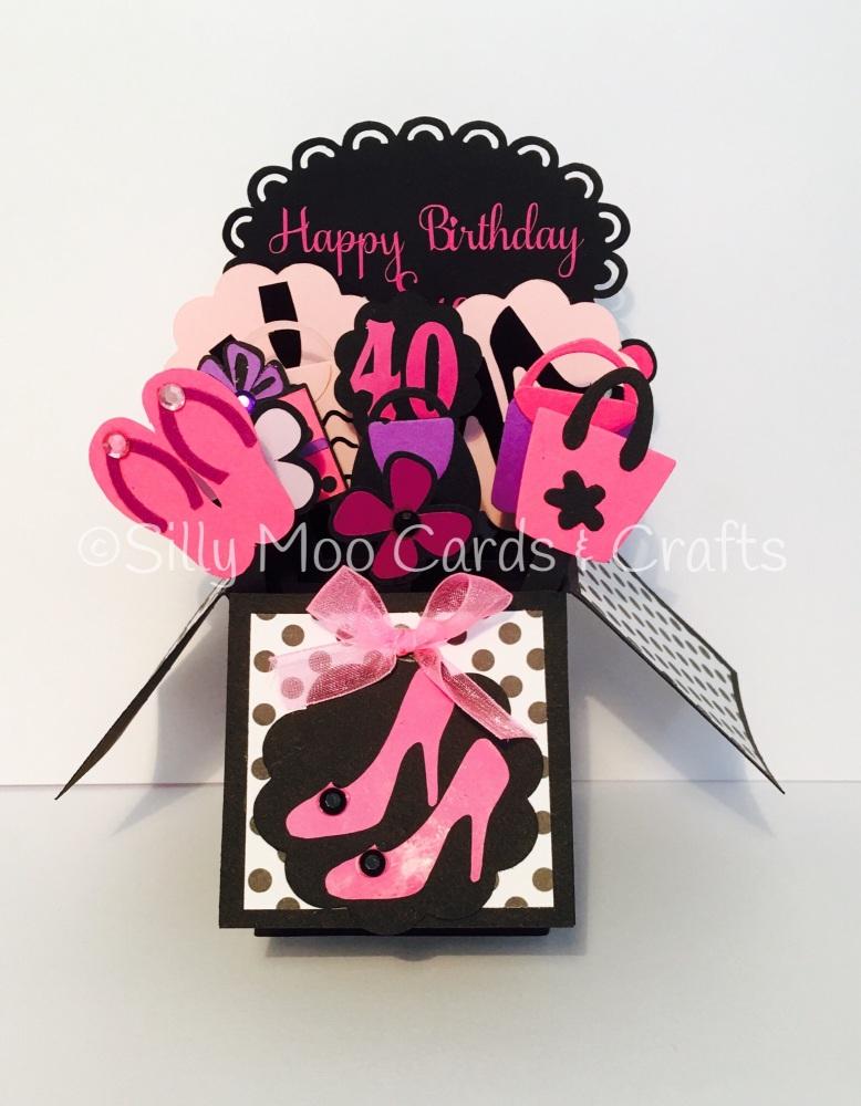 Pop Up Box Birthday Card For Female Google Search 21st Birthday Cards Boxed Birthday Cards Moo Cards