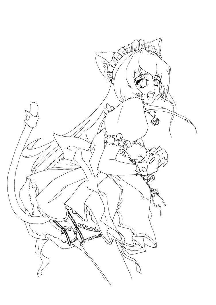 Neko Maid Coloring Page By Hitodrago On Deviantart Malvorlage Einhorn Disney Prinzessin Malvorlagen Malvorlagen Tiere