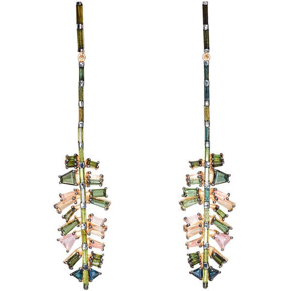 Nak Armstrong Women's Culebra Leaf Double-Drop Earrings ($7,800) ❤ liked on Polyvore featuring jewelry, earrings, no color, post earrings, nak armstrong earrings, leaves earrings, polish jewelry and earring jewelry