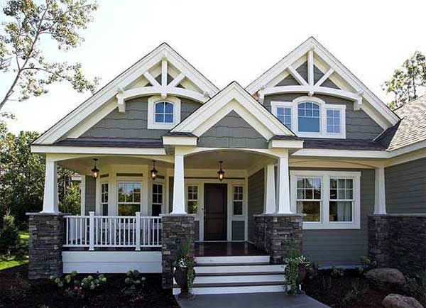 c5e6b36a7b4762352cd1062fd04745f9 plan 23256jd stunning craftsman home plan porch,House Plans With Double Front Porches