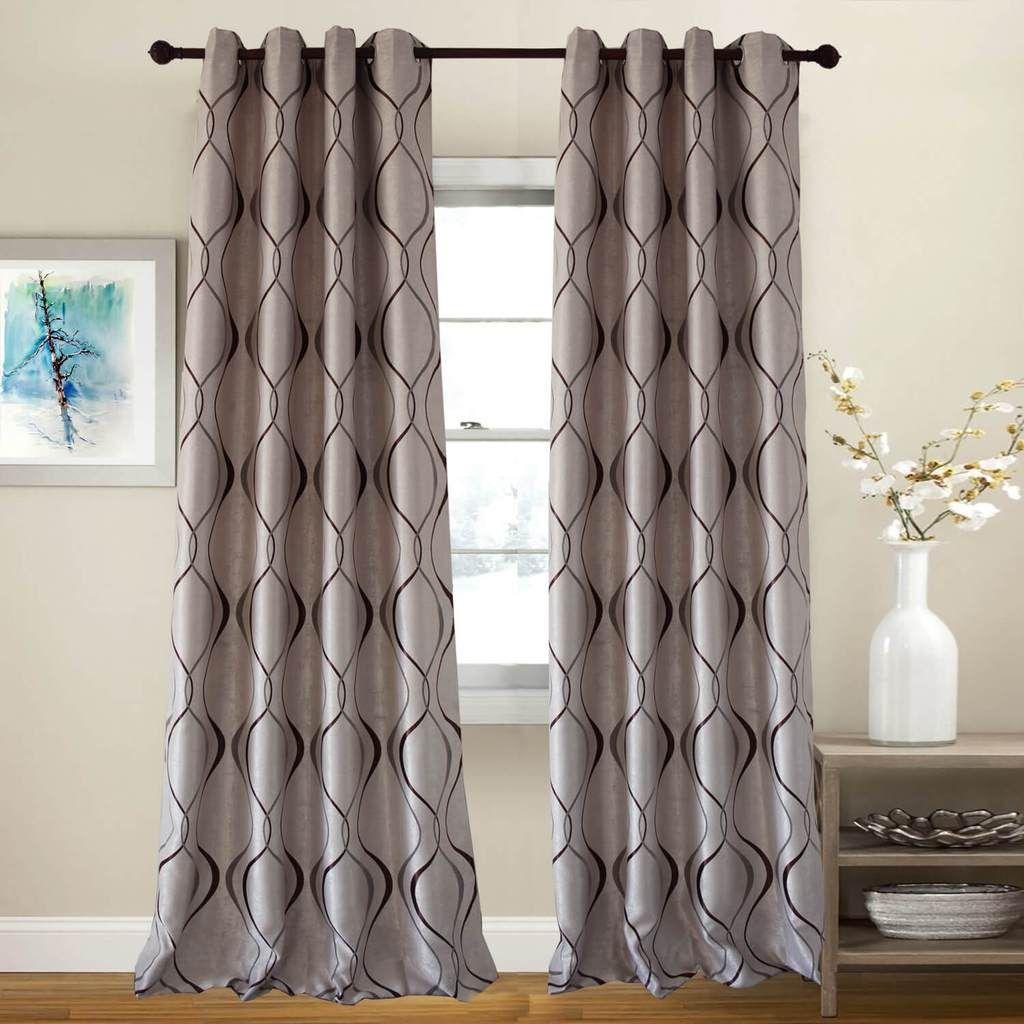 Tan Brown Curtains For Bedroom Room Darkening Geometric Drapes 2 Panels Brown Curtains Curtains Curtains Bedroom